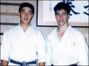 With Iwata Genzo Sensei at his Dojo, Saitamaken 1990
