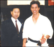 With Takashi Haraguchi Sensei after All Saitamaken Championships. 1992