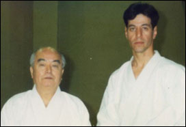 With Soke Kenei Maubni in Japan 1993