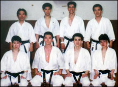 One of the training sessions at Toyo University, Tokyo 1991