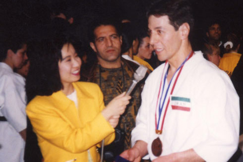 Interview with Tokyo TV after World Championships - Tokyo 1993