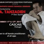 Master TAnzadeh Karate and Shitoryu Technical Seminars in Portugal 2017