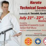 Master Tanzadeh Karate Seminars in Kosovo 2018