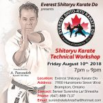 Master Tanzadeh Shitoryu Karate Workshop in Brampton 2018