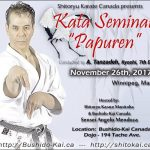 Master Tanzadeh Technical Semianr in Papuren Kata in Winnipeg Manitoba 2017