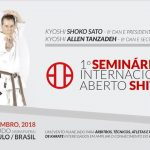 Master Tanzadeh with Master Shoko Sato - Joint Karate Technical Seminars in Brazil 2018
