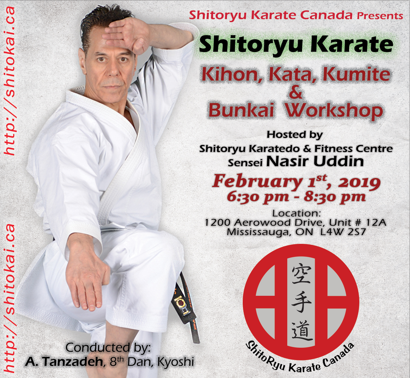 Kyoshi A.Tanzadeh Shitoryu Karate 8th Dan technical seminar