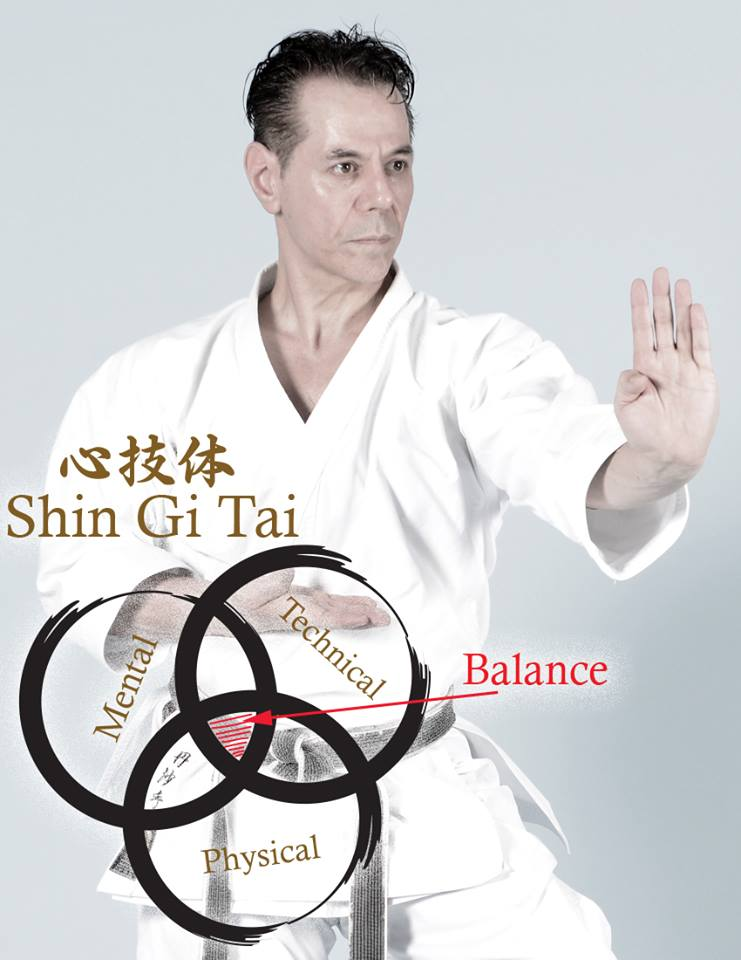 Kyoshi Tanzadeh showing Shigitai in karate