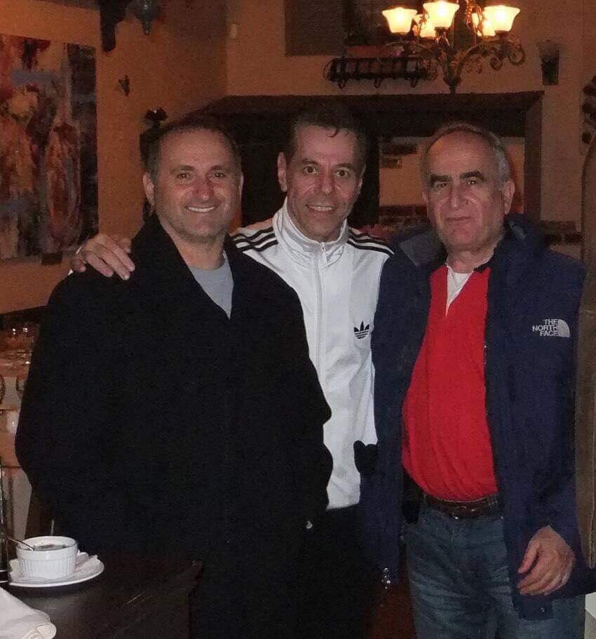 Sensei Tanzadeh with Sensei Con Kassis and Sensei Antonio Oliva Seba