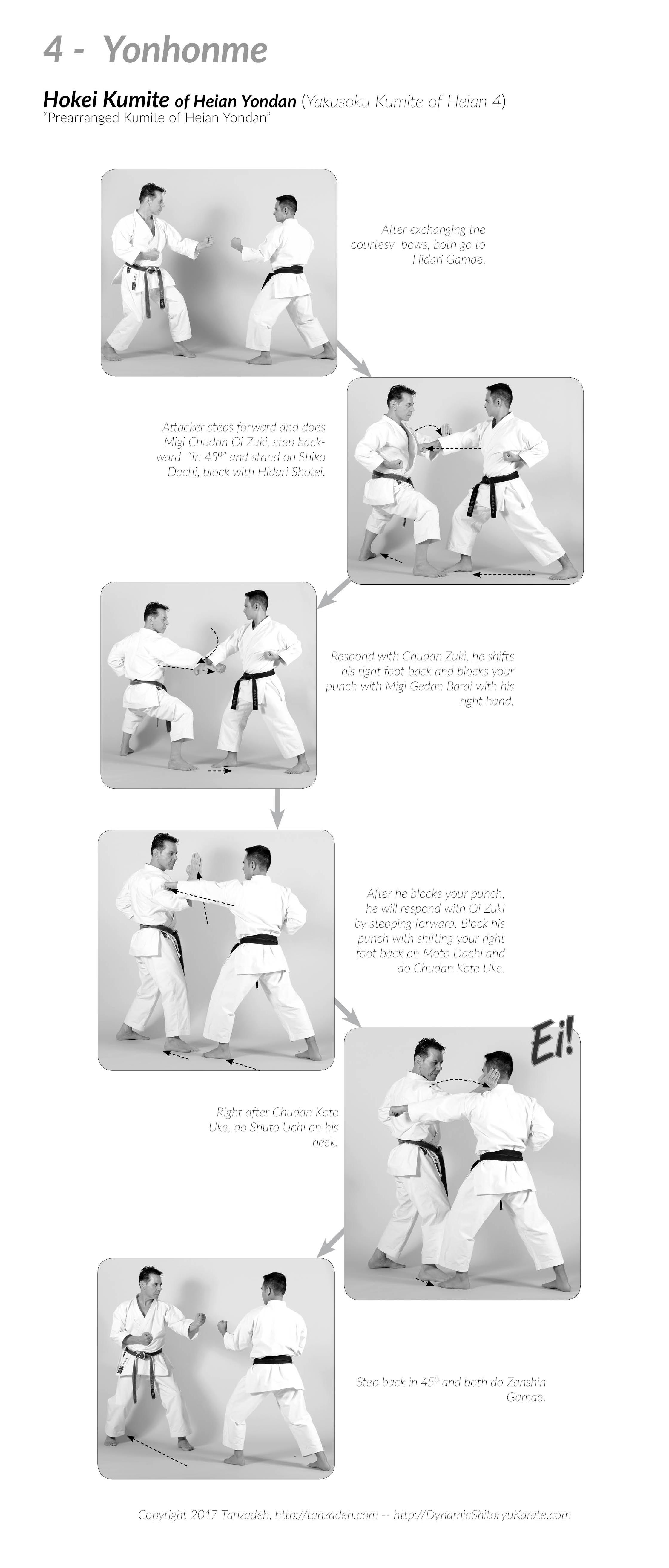Tanzadeh Shitokai - Hokei-Kumite-Yonhonme