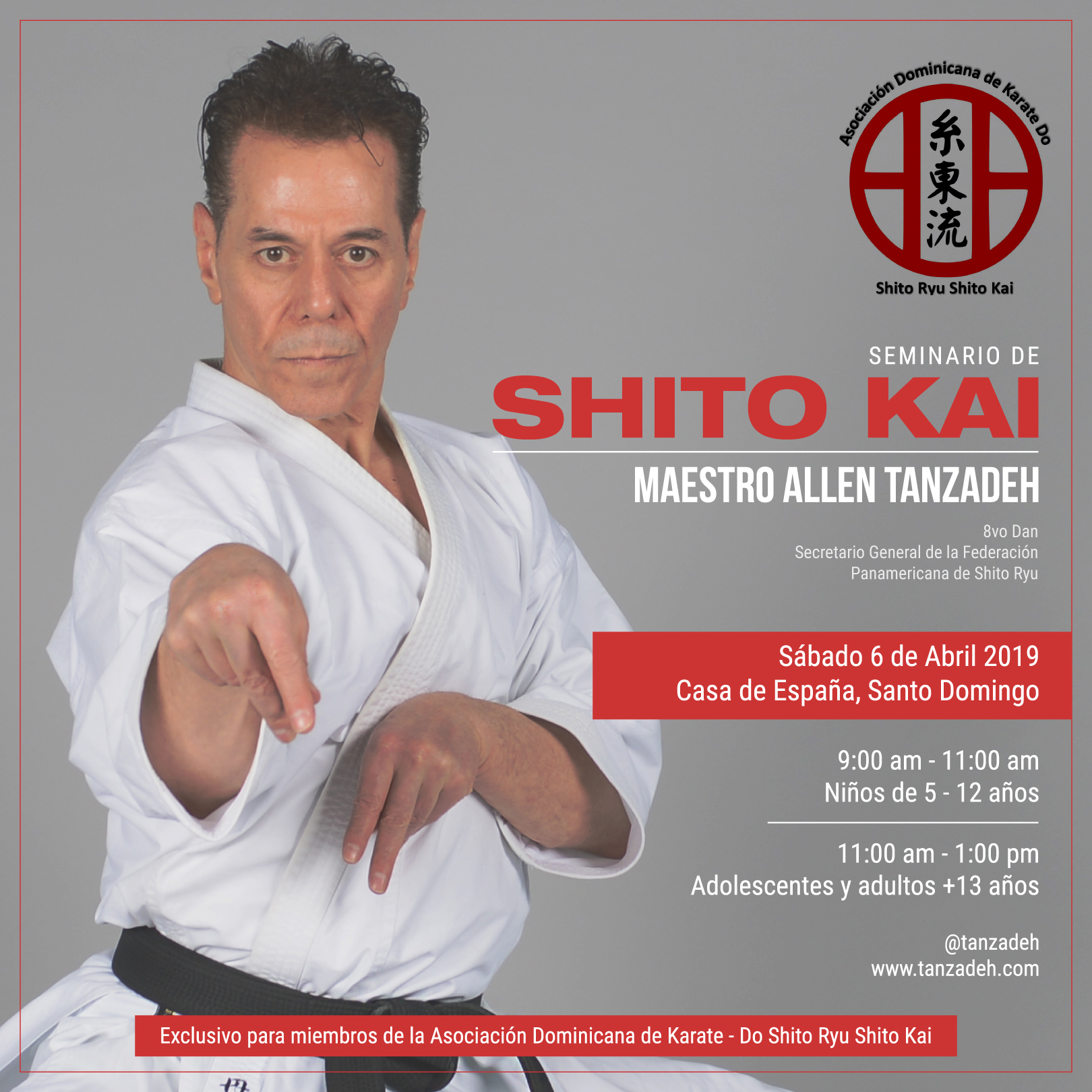 Karate Seminar with Kyoshi Tanzadeh - Dominican Republic